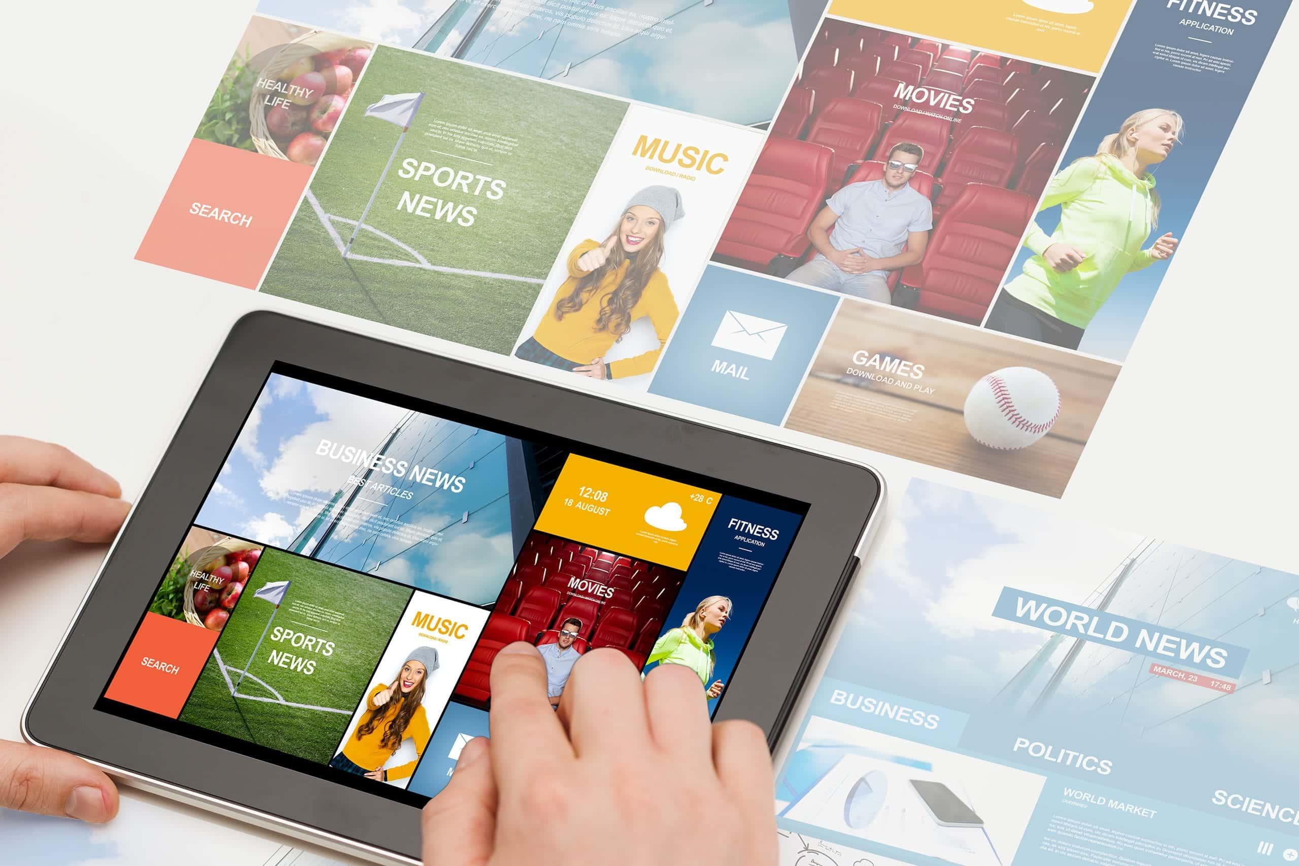 Web Design UX mobile Video professionali siti web